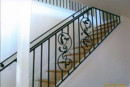 Metal Steel Handrail Balcony Balustrade Wrought Iron Railings