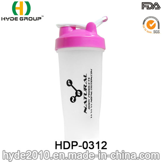 BPA Free Plastic Protein Powder Bottle, 700ml Newly Plastic Shake Bottle with Ss Ball (HDP-0312) pictures & photos