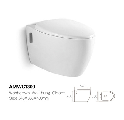 Amwc1300 American Style Modern Bathroom Wall-Hung Ceramic Wc White Toilet