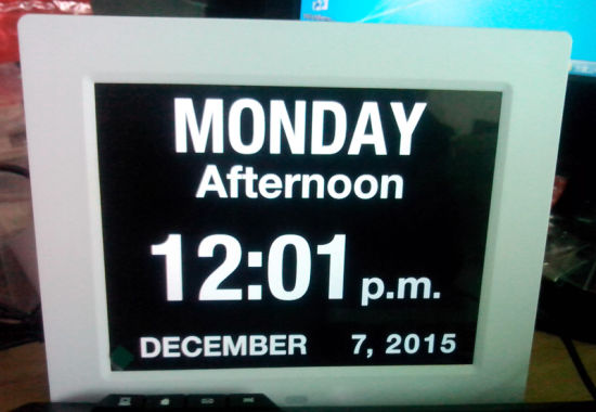 8inch HD Digital Photo Frame with Clock and Calendar