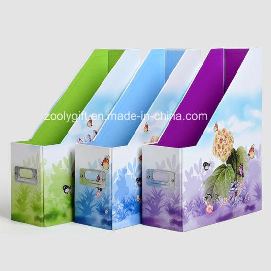 Desktop Cardboard File Holder Storage Box Magazine File Holder Box