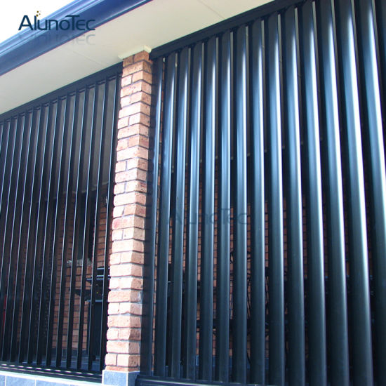 China Vertically Perforated Fins Aluminium Sun Louver For