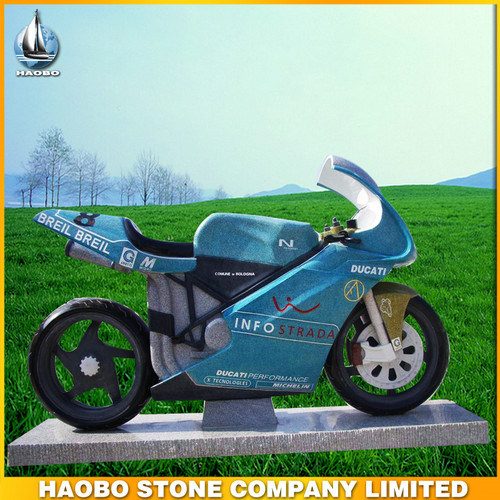 Hand Carved Stone Motorcycle Design Headstone pictures & photos
