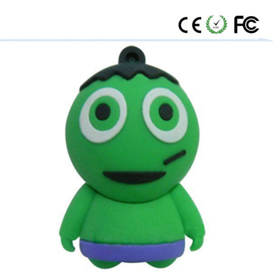 Promostional Customized PVC Material Halloween USB Flash Drive for Halloween Gift pictures & photos