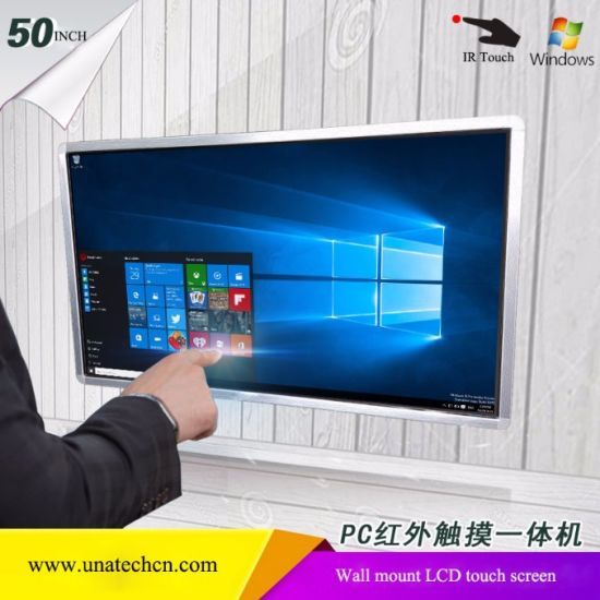 Elevator Wall Mounted IR Touch PC Windows System Indoor Media Video Player LCD Digital Display Screen