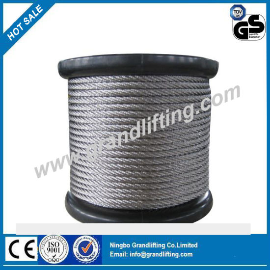 China Hot Sell Galvanized Round Strand Wire Rope /Wire Cable - China ...