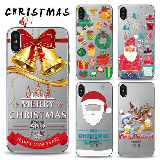 Christmas Phone Case Iphone Xr.Hot Item Uv Printing Customized Christmas Phone Case For Iphone Xs Xr Xs Max Ypf75