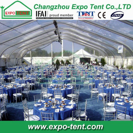Big Marquee Wedding Party Tent with Clear Roof pictures & photos