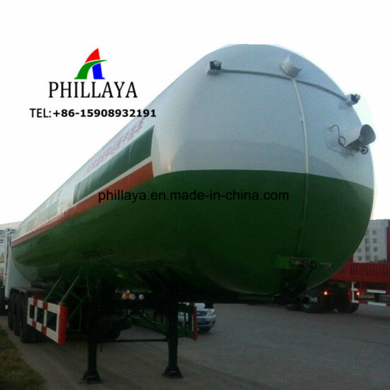 Gas Storage Transport Truck Semi LPG Tank Trailer for Sale pictures & photos