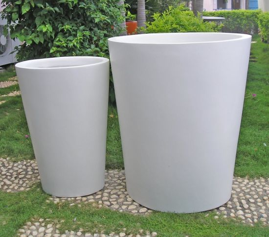 Fo-280 Tapered Round White Fiberglass Planter pictures & photos