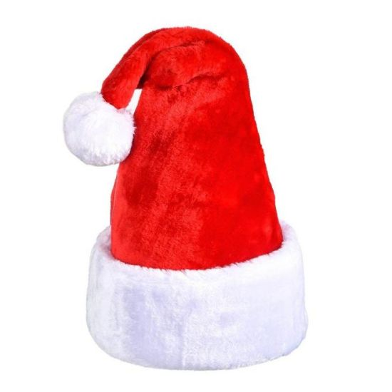 6899a71261d ... Wholesale Custom Christmas Beanie Santa Hat with Polyester for Children  or Adult ...
