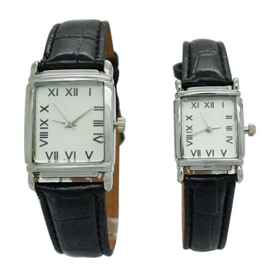 Rectangle Promotional Quartz Alloy Couple′s Watch pictures & photos