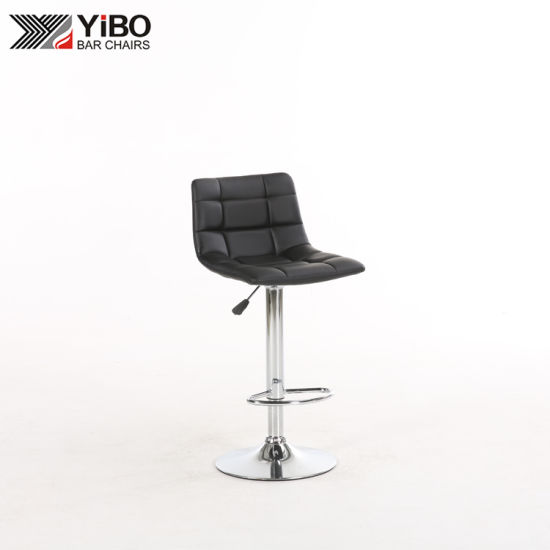 Low Back Cafe Chrome Bar Stool in Metal Frame and Modern Design From China Supplier