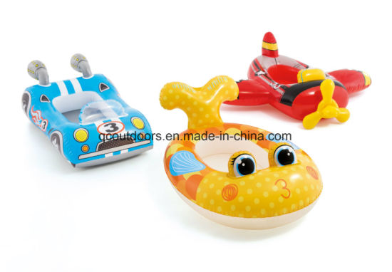 PVC Children′s Plane Car Fish Three-Piece Pond Floating Toy Set pictures & photos
