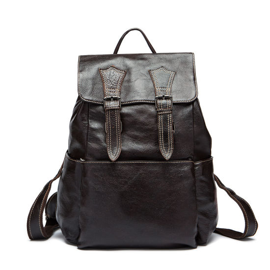 32587181df52 Large Classic Men Leather Backpack Retro Travel Rucksack pictures & photos