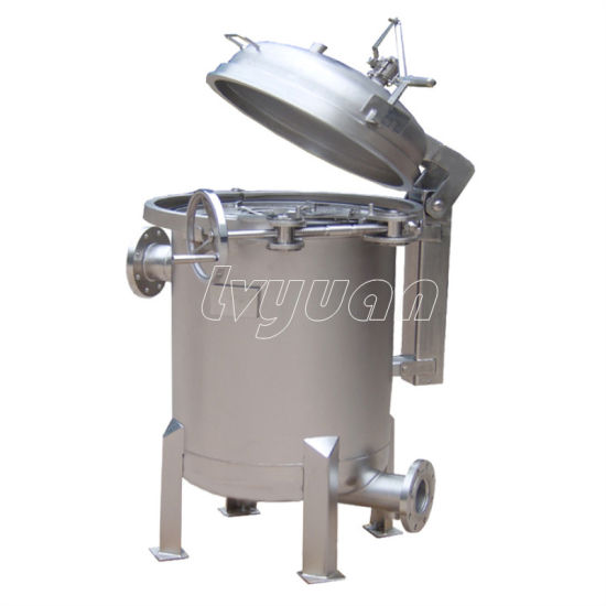 Large Volume Liquid Filtration Stainless Steel Bag Filter Housing for Food and Juice Industry