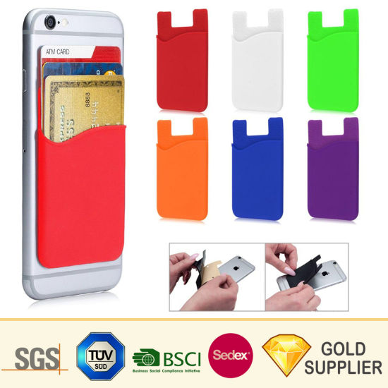 save off eca8d 52f9d Cheap Customized 3m Sticker Silicone Rubber Smart Phone Card Pocket Mobile  Phone Accessories Case Wallet Silicon Cell Phone Back Business Credit Card  ...