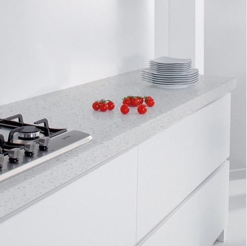 Sparkling White Quartz Countertop with Mirror Flecks Engineered Stone Elegant - New engineered quartz countertops In 2019