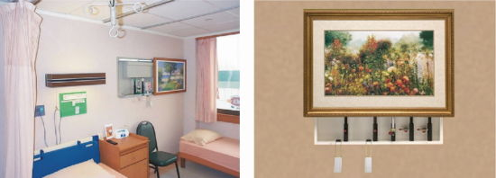Hospital VIP Mural Hidden Bed Head Unit From Chinese Professional  Manufacturer (THR-BH002)