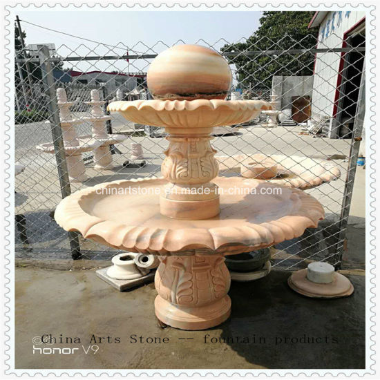 Red Granite/ Marble Stone Fountain Ball pictures & photos
