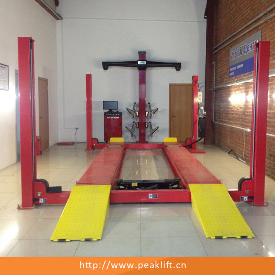 Cable-Drive Hydraulic Power Unit Four Post Car Lift with Ce (409A) pictures & photos