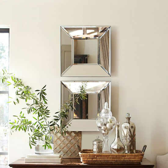 Bird Design Mirror Set Of 3 Wall Decor