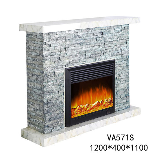 China European Style Modern Stone Electric Led Fireplace