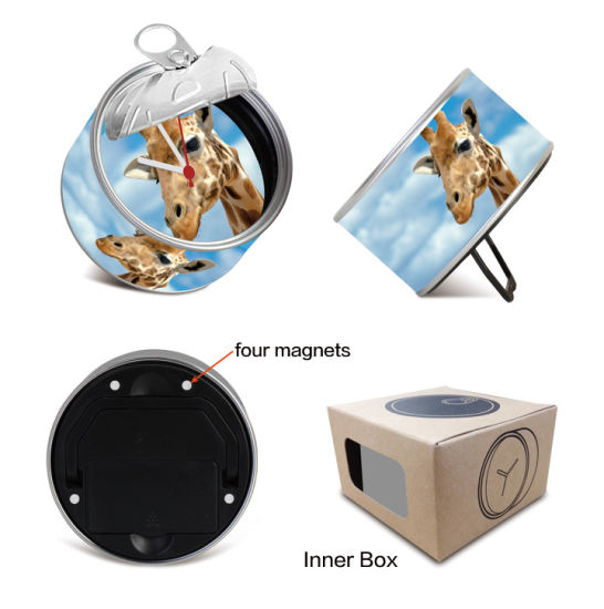 Small Round Alarm Tin Clock Christmas New Year Gifts