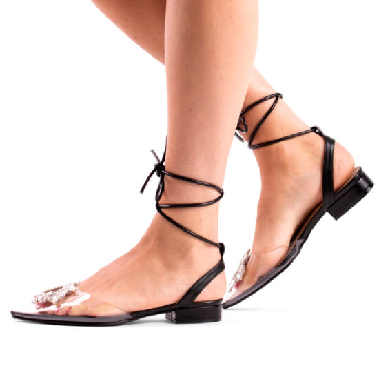 Women Shoes Clear Slippers Flat Lady Shoes Straps Fashion Sandals Ladies Shoes