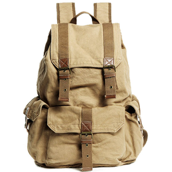 Wholesale Canvas Bagpack Military Camouflage Bag Durable Outdoor Cotton Hiking Bag Camping Shoulder Backpack