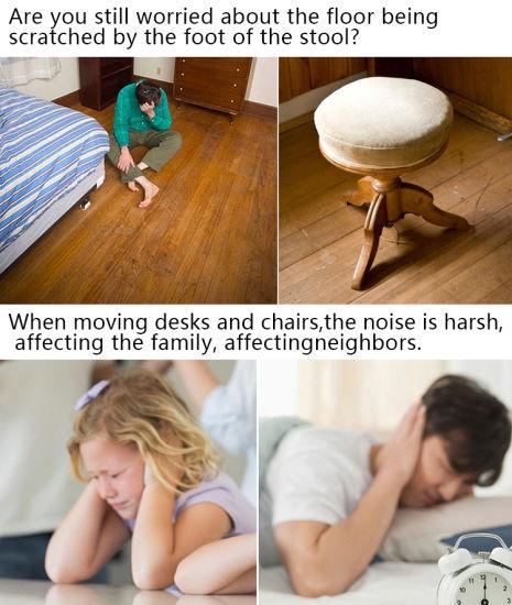 2 Inch Square Rubber Furniture Cups, 4 Pack