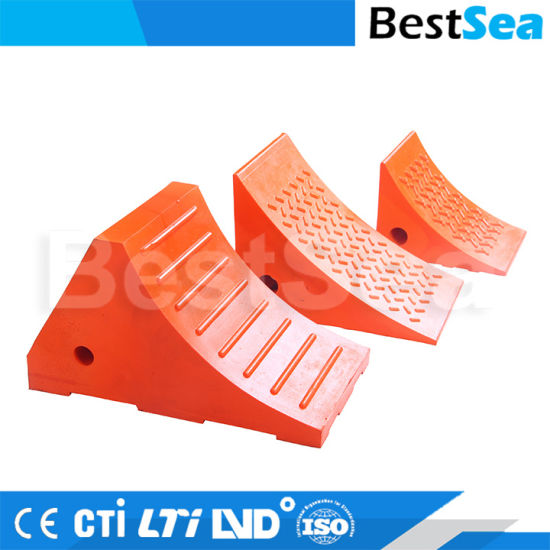 Double Sides Polyurethane Wheel Chock Wheel Chock Block pictures & photos