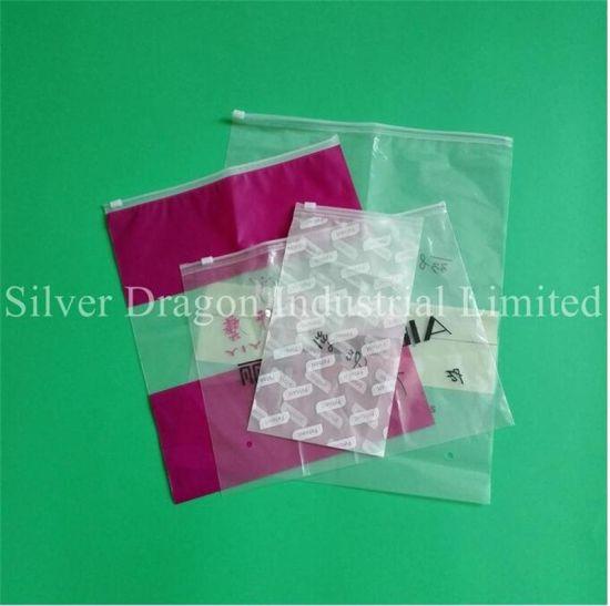 Custom Plastic OPP PVC packaging Bag with Slider for Underware
