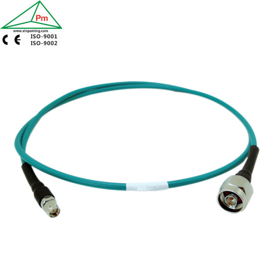 Blue PVC Jacket Extra Soft Test Radio Frequency Coaxial Cable Assembly 1GHz, 3GHz, 6GHz
