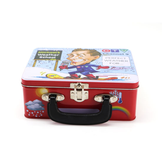 Wholesale Easy Handle Metal Tin Lunch Box with Lock and Key pictures & photos