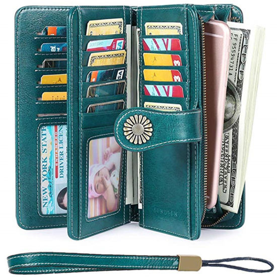 Wholesale Fashion Genuine Leather Large Capacity Wallets