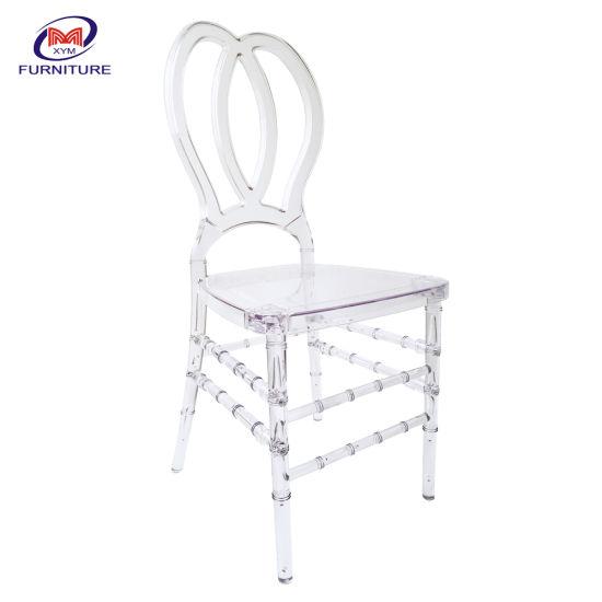 Wholesale Furniture Cheap Transparent Acrylic Tiffany Chair Plastic Wedding Clear Resin Chiavari Chair