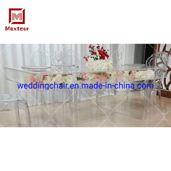 China Custom Clear Ghost Wedding Furniture Bride and Groom