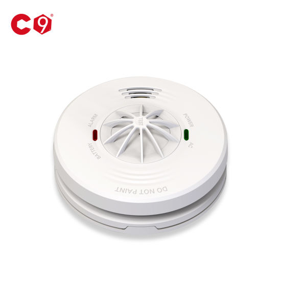 Bsi NF Approved Heat Detector AC220V with 5 Years Battery
