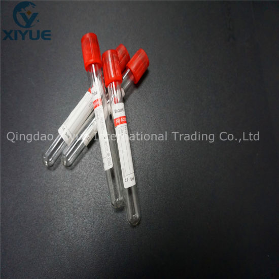 Gel Clot Activator Tube Disposable Glass Vacuum Blood Collection Tubes