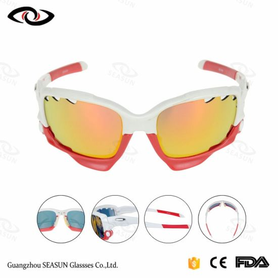New Products Wholesale UV Lens Plastic Sports Sunglasses for Cycling