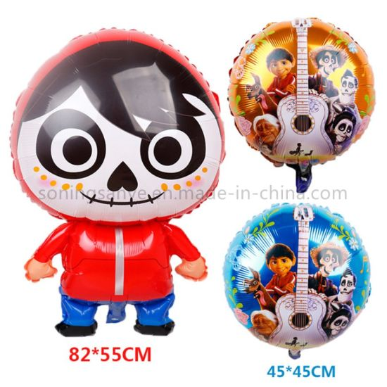 Dto0132 New Design Globes Coco 18 Inch Round Foil Balloon Fiesta Party Decoration Balloons