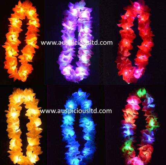 Led Light Up Hawaiian Lei