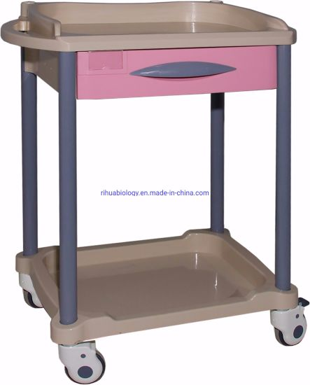 Hospital ABS Medicine Trolley Medical Nursing Cart pictures & photos