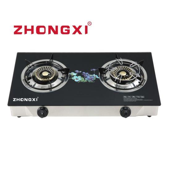 China Manufactured Tempered Glass 2 Burner Gas Stove (JZ-SE03)