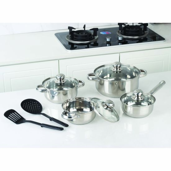 10 PCS Best Selling Kitchen Stainless Steel Cookware Set