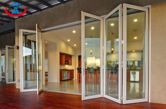 Aluminum Frame Interior Folding Glass Doors From China pictures & photos