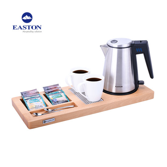 Brushed Stainless Steel Kettle 1L Electric Kettle with Elegant Trays