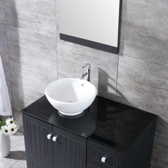 36inch Bathroom Vanity Pvc Cabinet Porcelain Vessel Sink Bowl W