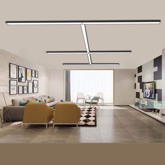 Factory Price Aluminum 1.2m 40W 100lm/W Suspended LED Linear Lighting LED Down Lights Chandelier